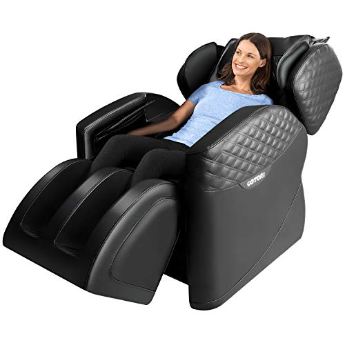 Massage Chair Full Body Recliner Zero Gravity Shiatsu Luxurious Electric Massage Chair Foot Rolling and Built in Heat with Bluetooth Speaker By Ootori (Black)