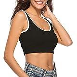 Women Tank Top,Lowprofile Lady's Bra Vest Crop Top Two Tone Color Corset Sport Yoga Gym Vest Pure Color