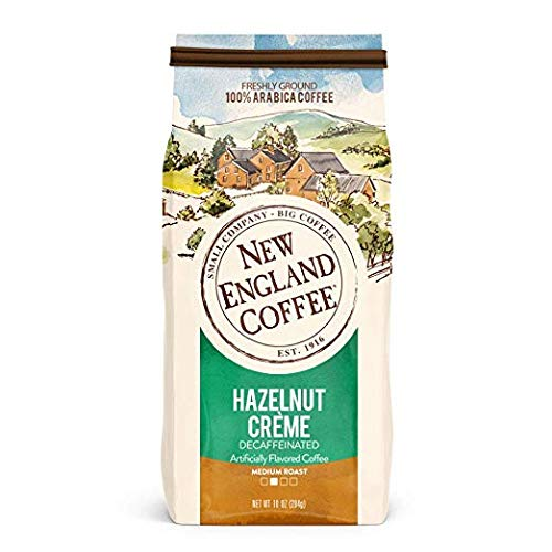 (New England Hazelnut Crème Decaf Coffee , Ground, 10-ounce Bags (Pack of 3))