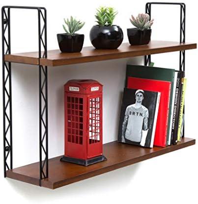 JackCubeDesign J JACKCUBE Design – 2Tier Wood Wall Mount Floating Decor Shelves MK461A