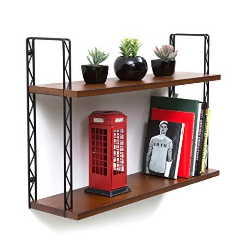 JackCubeDesign J JACKCUBE Design - 2Tier Wood Wall Mount Floating Decor Shelves MK461A ()