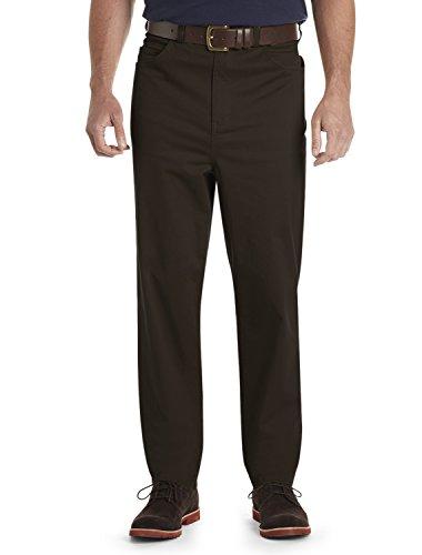 Harbor Bay Big And Tall (Harbor Bay Dxl Big and Tall Continuous Comfort Pants, Coffee Bean 46 X 32)