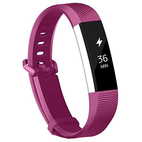 Adepoy Fitbit Alta Bands and Alta HR Bands, Newest Adjustable Replacement Wristband with Secure Metal Clasp for Fitbit Alta HR and Fitbit Alta