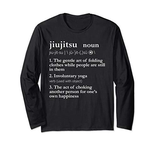 Funny Brazilian Jiu Jitsu BJJ Gifts MMA Cage Fighter Men Him Long Sleeve T-Shirt ()