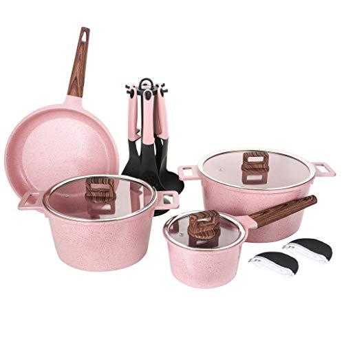 Ceramic Cookware Sets Dishwasher Safe Scratch Resistant PFOA