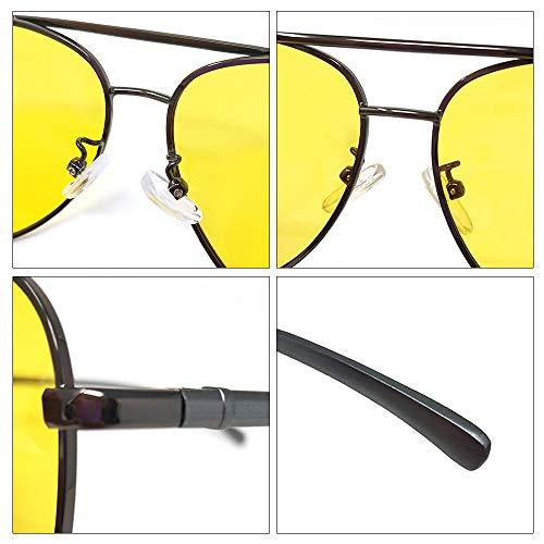 con polarizadas gafas con Retro de black hombres retro HD visión nocturna Gafas segura LUFF antideslumbrantes mujeres Gafas conducción xOq6wyCUY