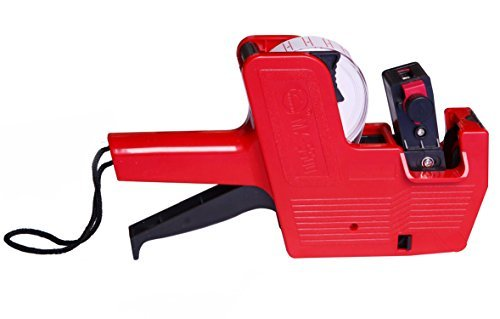 Metronic Mx5500 Red 8 Digits Labeler Price Tag Gun Labeller Included Labels & Ink Refill