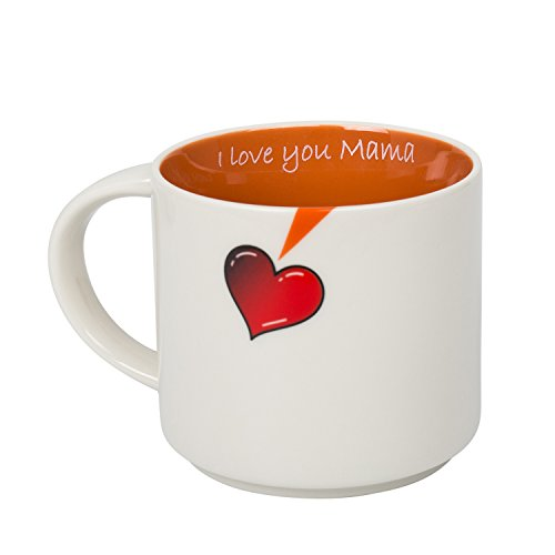 Warning Ceramic Travel Mug - I Love You Mama 16oz Funny Ceramic Coffee Mug, Best Gift for Mom, Mother's Day Christmas or Birthday Gift From QFUN