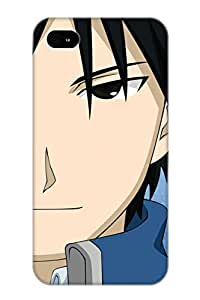 Exultantor Top Quality Case Cover For Iphone 4/4s Case With Nice Anime Fullmetal Alchemist Anime Fan Art Vector Morrow Pixiv Fma Roy Mustang Appearance