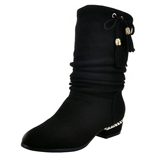 CularAcci Women Retro Low Heel Heel Heel Slouch Boots B07H84RW2W Shoes da3cb4