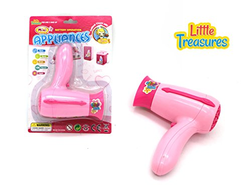 Little Treasures Mini Pretend Play Beauty Salon Fashion Hair Dryer Appliance Toy for Preschooler's