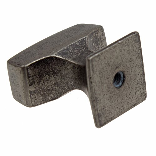 GlideRite Hardware 87390-WN-100 1.125 inch Rectangle Deco Weathered Nickel Cabinet Knobs 100 Pack by GlideRite Hardware (Image #1)