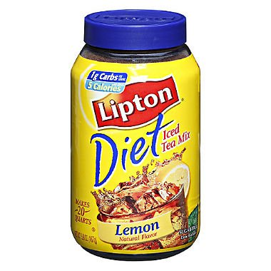 Lipton Diet Lemon Iced Tea Mix - 5.9 oz. jar, 6 jars per case