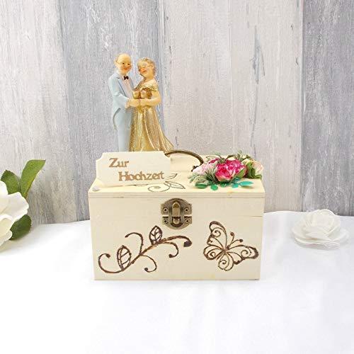 Geldgeschenk Gold Hochzeit Holz Box Hochzeitsgeschenk