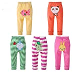 Monvecle Baby Girl 5 Pack Newborn to Toddler Cotton