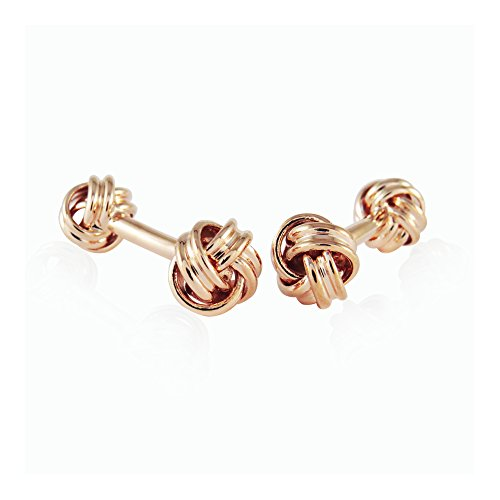 Double Knot Cufflinks - Double Knot Rose Gold Cufflinks By Jewelry Mountain