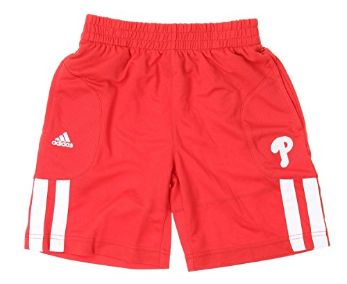 adidas MLB Philadelphia Phillies Little Boys Kids Batters Choice Shorts, Reds (Mediu.