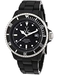 ToyWatch FLUO Collection Italian, Black, Analog, Plasteramic Watch FL23BK