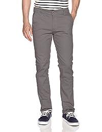 WT02 Pantalones Chinos Largos básicos elásticos para Hombre