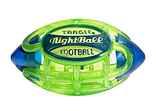 Tangle NightBall Glow in the Dark Light Up LED Football, Green with Blue]()