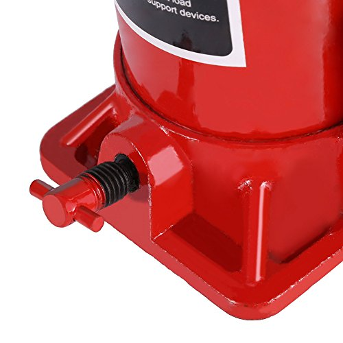 Hydraulic Bottle Jack, 8 Ton Capacity Red Portable Heavy Duty Hydraulic Jack Automotive Lifter for Car Caravan Tractors Truck by Yosooo (Image #3)