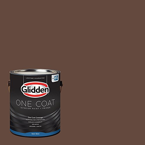 Glidden Interior Paint + Primer: Brown/Fudge, One Coat, Semi-Gloss, 1-Gallon