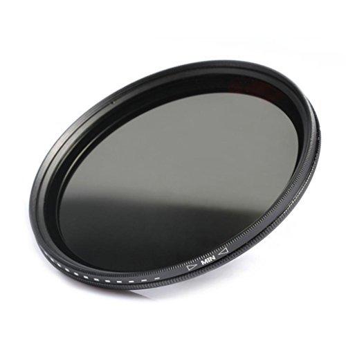 K&F Concept 37mm ND Filter Variable Fader NDX Neutral Density Adjustable ND2 to ND400 Lens Filter Kit + Cleaning Cloth for Cameras Lens