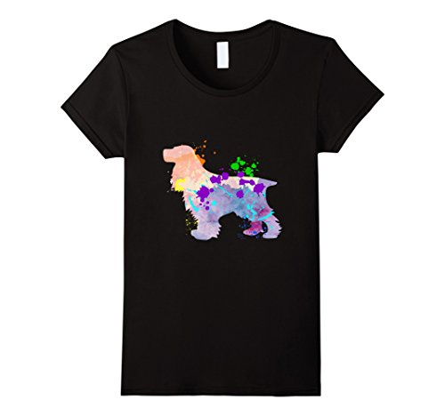 Women's English Cocker Spaniel Dog Gift T-Shirt Small Black
