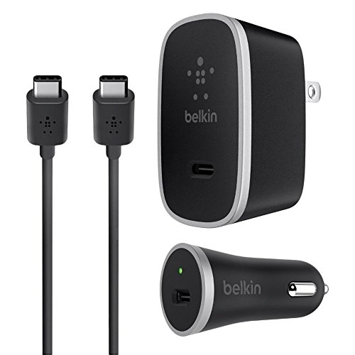 Belkin USB-C (USB Type C) Charging Kit (15 Watt) (Charger Home Belkin And Car Kit)