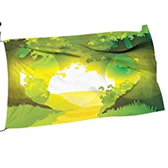 Add a little personal touch to your home and welcome your guests with our beautiful garden flags. The double sided garden flag features our design on both sides. The weather tested and fade resistant material makes the flag a perfect decorat...