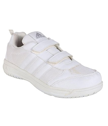 c90eaa86057b Adidas White Velcro School Shoes (9C UK India)  Buy Online at Low ...