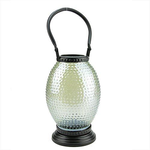 Northlight Decorative Hammered Luster Hobnail Glass Tea Light Candle Holder Lantern, 11