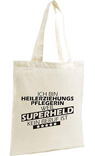 Shirtstown Bolso De Compras Orgánico Zen, Shopper Estoy Heilerziehungspflegerin, weil Superheld sin Trabajo ist natural