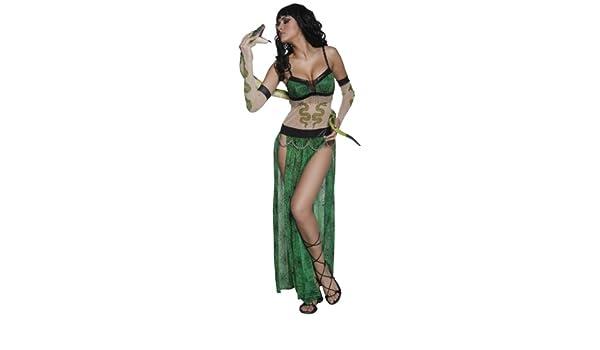 Desconocido Disfraz de encantadora de serpientes para mujer| ideal ...