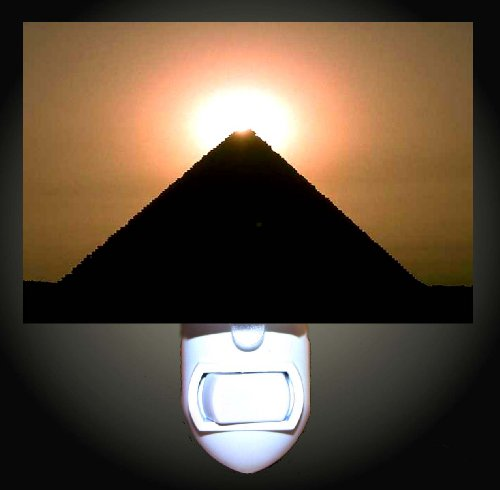 Sun Topped Egyptian Pyramid Decorative Night Light (Pyramid Cable Fixture)