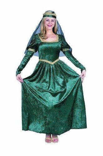 [Renaissance Princess (Green;One Size)] (Green Medieval Dress)