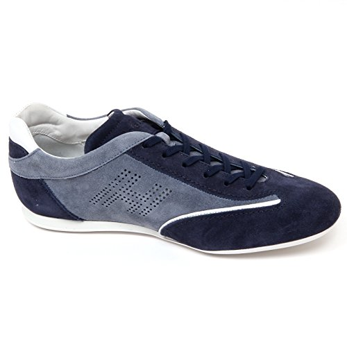 D0104 sneaker uomo HOGAN OLYMPIA SLASH H forata scarpa blu/avio shoe man blu/avio
