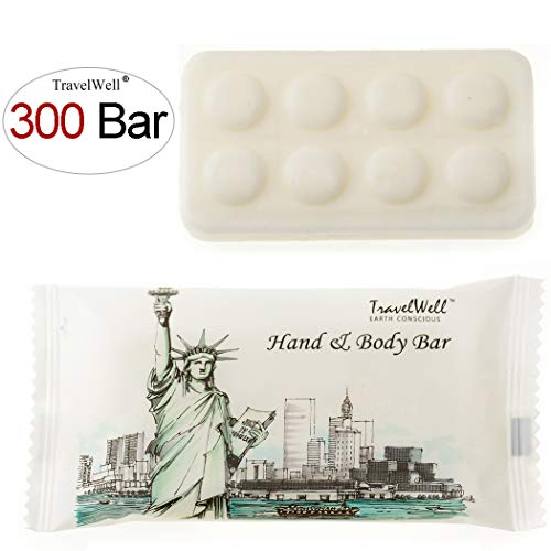 TRAVELWELL Landscape Series Hotel Travel Size Massage Cleaning Soaps 1.0oz 28g, Individually Wrapped 300 Bars per Box
