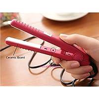 Mini Hair Straightening Irons Flat Hair Straightener Tool(Pink)