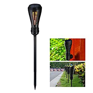 Solar Torch Light, KOBWA Waterproof Dancing Flames Torches 135 LEDs Outdoor Landscape Decoration Lighting Dusk to Dawn Auto On/Off Solar Light for Yard Pool Garden