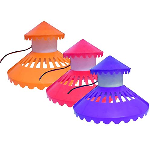 Foodie Puppies Top Cover LED Lighting for Round Glass Bowl (TOP Cover LED for Fish Bowl, 8inch)