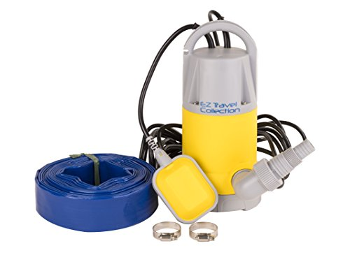 Submersible Collection - Professional EZ Travel Collection, Hot Tub and Swimming Pool Drain Pump with Hose Pond/Flood Pump (Up to 3,700 Gallons per Hour)
