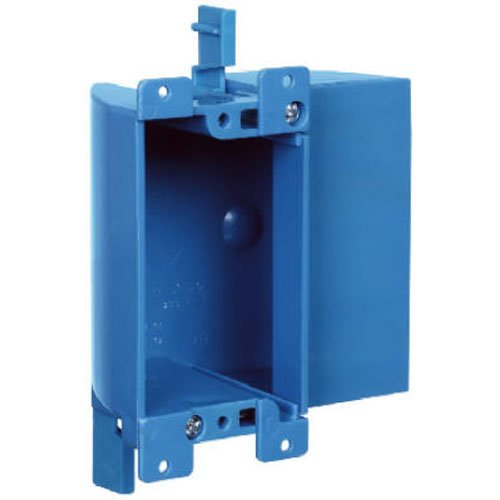 Old Work Box Single Gang (Carlon B117RSW Work Outlet Box, 1 Gang, 3.64-Inch Length by 4.07-Inch Width by 2-Inch Depth, Blue)