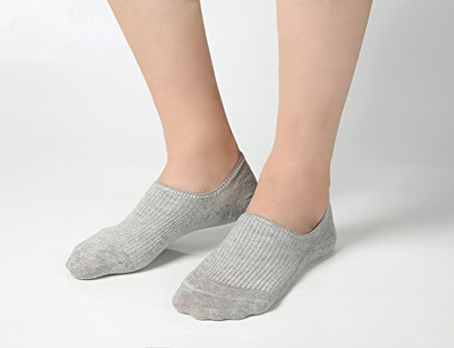 Women's No Show Casual Socks 8 Pairs Low Cut Liner Cotton Ankle Socks Invisible Non Slip by Azue (Image #4)