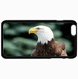 Personalized Protective Hardshell Back Hardcover For iPhone 6 Plus, Bald Eagle Design In Black Case Color