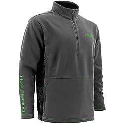 Huk Fleece 1/4 Zip Long Sleeve, Cool Charcoal Grey, Medium