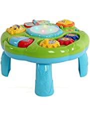 WISHTIME Musical Learning Table Baby Toy - Electronic Education Activity Center Toys for Toddlers Early Development Activity Toy
