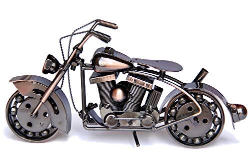 Trebisky Collectible Art Sculpture Die Cast Harley Davidson Scrap Metal Motorcycle (Copper Softail)