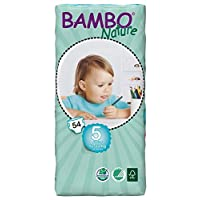 Bambo Nature Junior Size 5 (26-49lb/12-22kg) Premium Eco-Nappies - 54 pieces/Tall Pack
