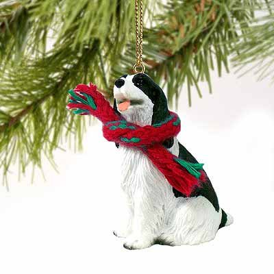 Springer Spaniel Miniature Dog Ornament - Black & White